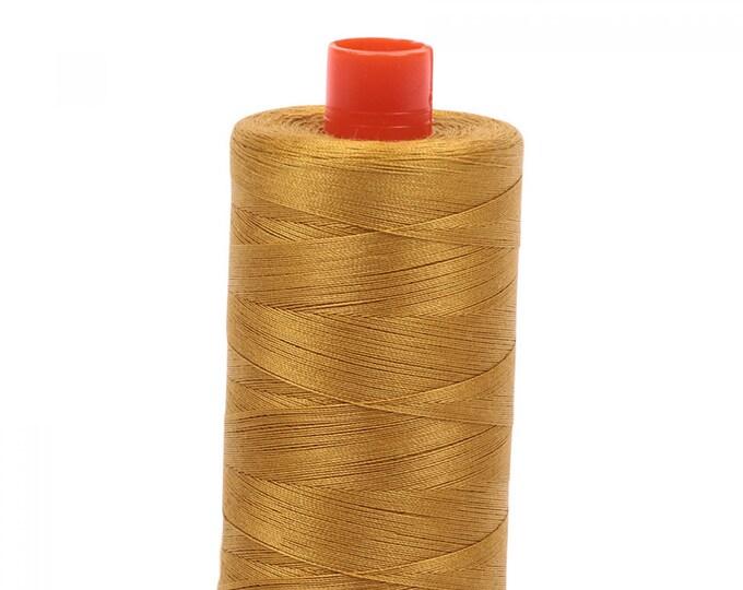 AURIFIL MAKO 50 Wt 1300m 1422y Color 5022 Mustard Cotton Quilting Thread