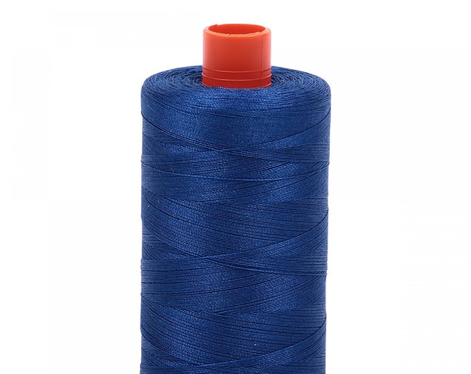 AURIFIL MAKO 50 Wt 1300m 1422y Color 2740 Medium Cobalt Quilt Cotton Quilting Thread