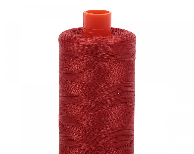 AURIFIL MAKO 50 Wt 1300m 1422y Color 2395 Pumpkin Spice Quilt Cotton Quilting Thread