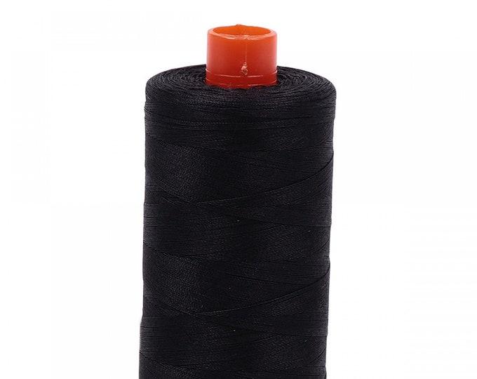 AURIFIL MAKO 50 Wt 1300m 1422y Color 4241 Very Dark Gray Cotton Quilting Thread