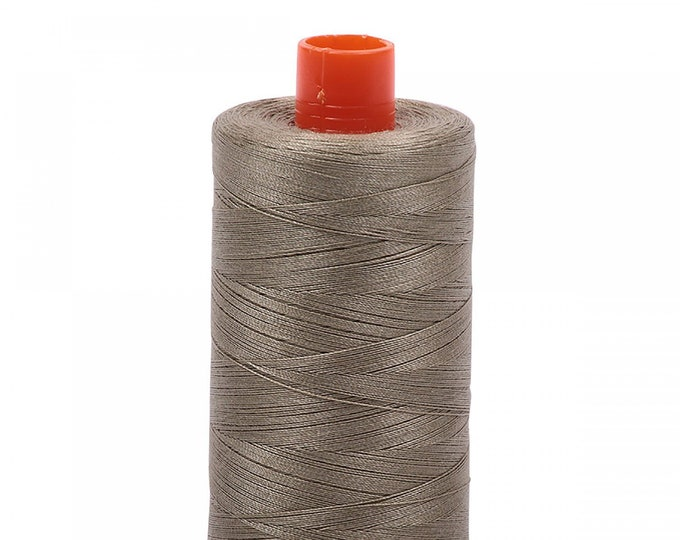 AURIFIL MAKO 50 Wt 1300m 1422y Color 2900 Light Khaki Green Cotton Quilting Thread