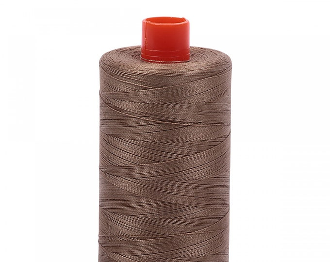 AURIFIL MAKO 50 Wt 1300m 1422y Color 2370 Sandstone Quilt Cotton Quilting Thread