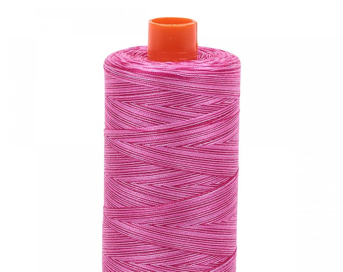AURIFIL MAKO 50 Wt 1300m 1422y Color 4660 Pink Taffy Variegated Quilt Cotton Quilting Thread