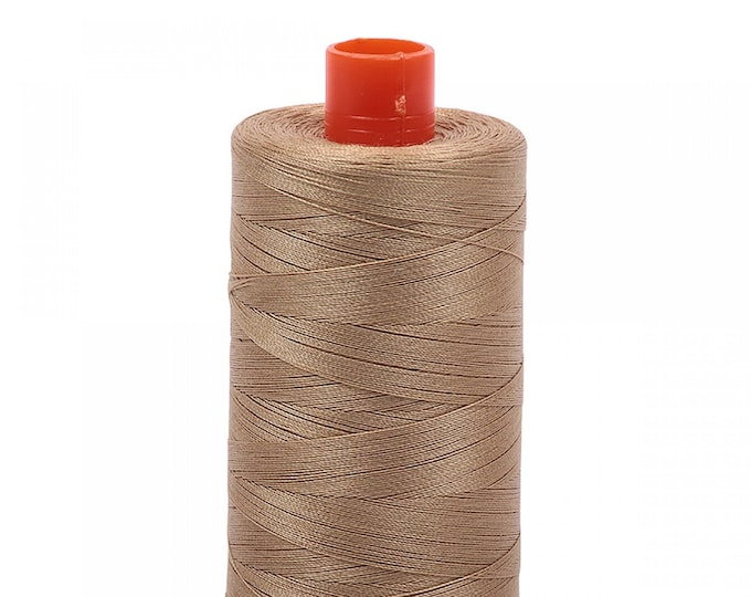 AURIFIL MAKO 50 Wt 1300m 1422y Color 5010 Blonde Beige Cotton Quilting Thread