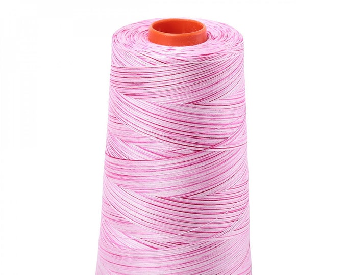 AURIFIL Cone MAKO 50 Wt 5900 Meters 6452 Yds Color 4660 Pink Taffy Variegated Quilt Cotton Quilting Thread