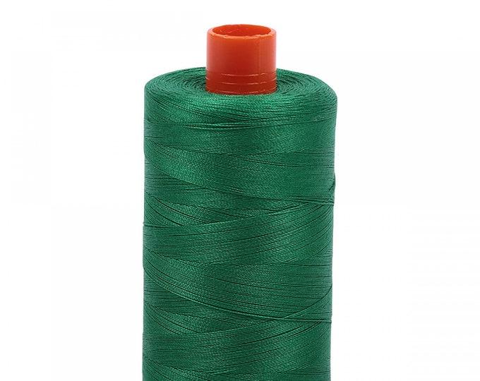 AURIFIL MAKO 50 Wt 1300m 1422y Color 2870 Green Quilt Cotton Quilting Thread