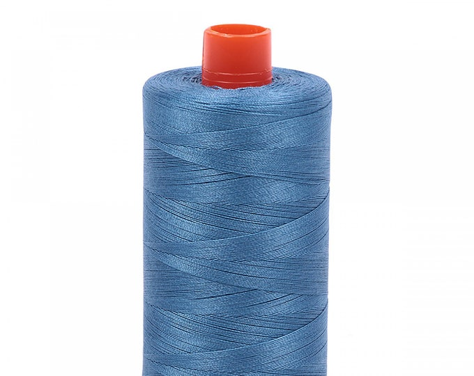 AURIFIL MAKO 50 Wt 1300m 1422y Color 4140 Wedgewood Cotton Quilting Thread