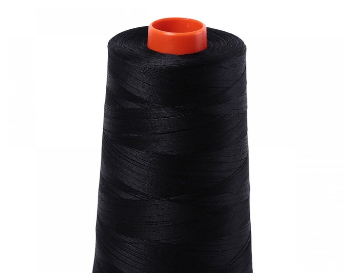 AURIFIL Cone MAKO 50 Wt 5900 Meters 6452 Yds Color 2692 Black Quilt Cotton Quilting Thread