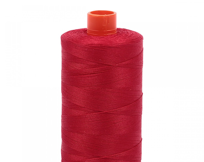 AURIFIL MAKO 50 Wt 1300m 1422y Color 2250 Red Quilt Cotton Quilting Thread