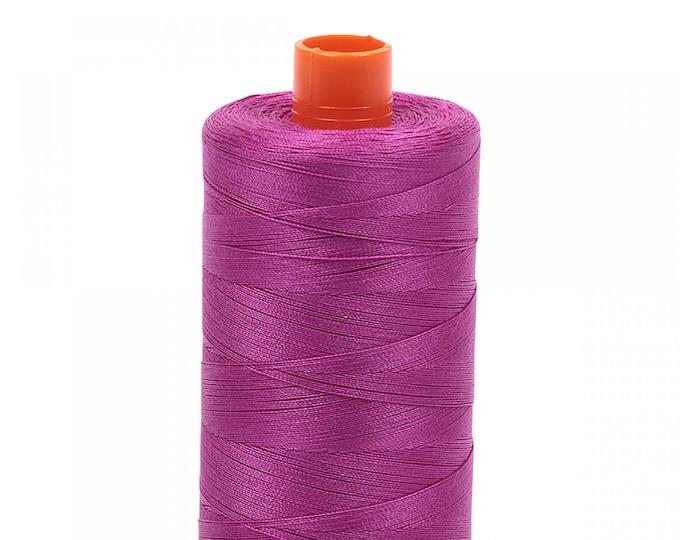 AURIFIL MAKO 50 Wt 1300m 1422y Color 2535 Magenta Quilt Cotton Quilting Thread