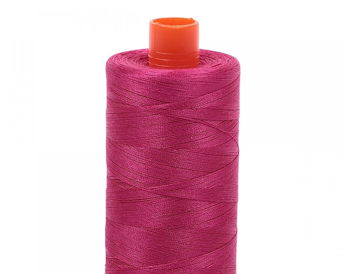 AURIFIL MAKO 50 Wt 1300m 1422y Color 1100 Red Plum Pink Quilt Cotton Quilting Thread