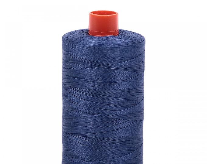 AURIFIL MAKO 50 Wt 1300m 1422y Color 2775 Steel Blue Quilt Cotton Quilting Thread
