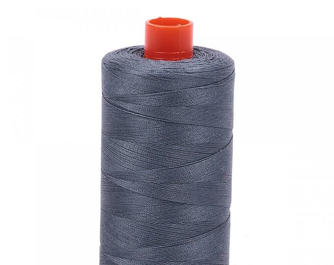 AURIFIL MAKO 50 Wt 1300m 1422y Color 1246 Gray Grey Quilt Cotton Quilting Thread