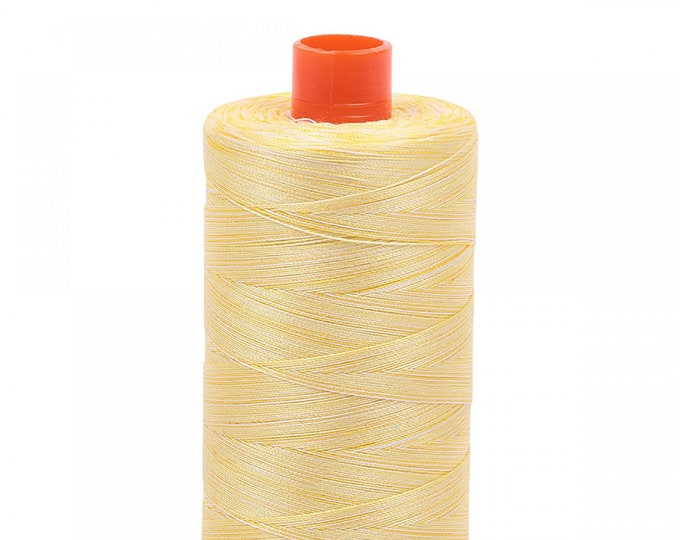 AURIFIL MAKO 50 Wt 1300m 1422y Color 3910 Lemon Ice Variegated Quilt Cotton Quilting Thread