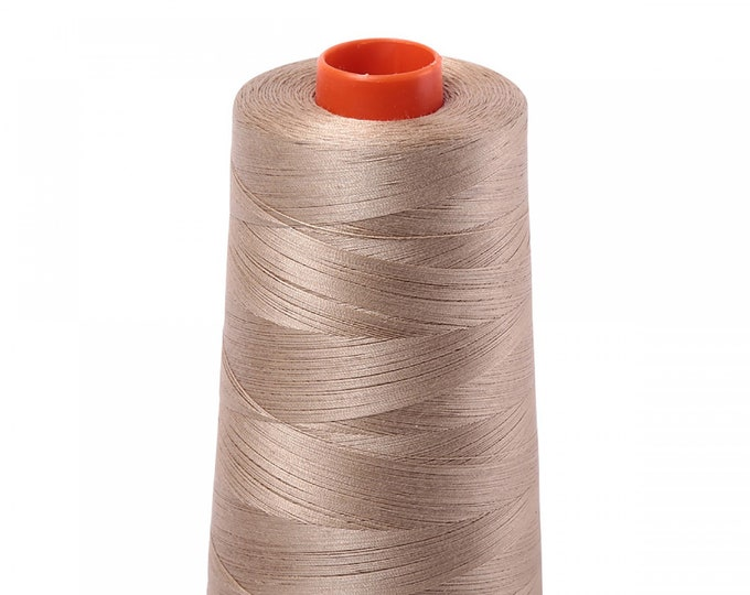 AURIFIL Cone MAKO 50 Wt 5900 Meters 6452 Yds Color 2325 Linen Quilt Cotton Quilting Thread