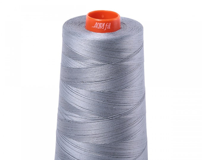 AURIFIL Cone MAKO 50 Wt 5900 Meters 6452 Yds Color 2610 Light Blue Gray Quilt Cotton Quilting Thread