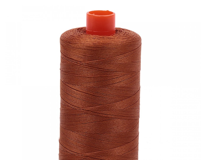 AURIFIL MAKO 50 Wt 1300m 1422y Color 2155 Cinnamon Quilt Cotton Quilting Thread