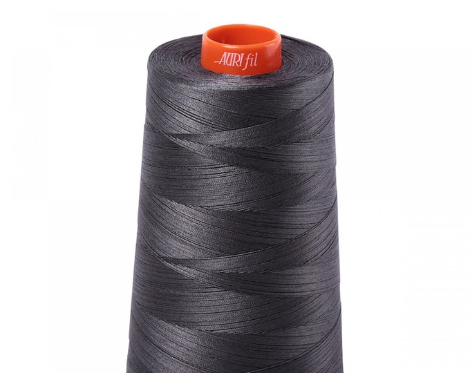 AURIFIL Cone MAKO 50 Wt 5900 Meters 6452 Yds Color 2630 Dark Pewter Quilt Cotton Quilting Thread