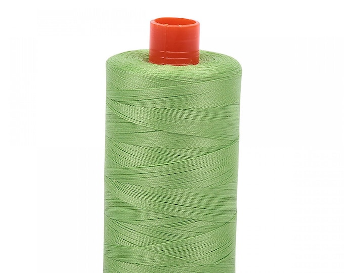 AURIFIL MAKO 50 Wt 1300m 1422y Color 5017 Shining Green Cotton Quilting Thread