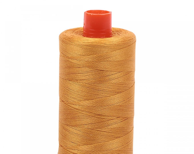 AURIFIL MAKO 50 Wt 1300m 1422y Color 2140 Orange Mustard Quilt Cotton Quilting Thread