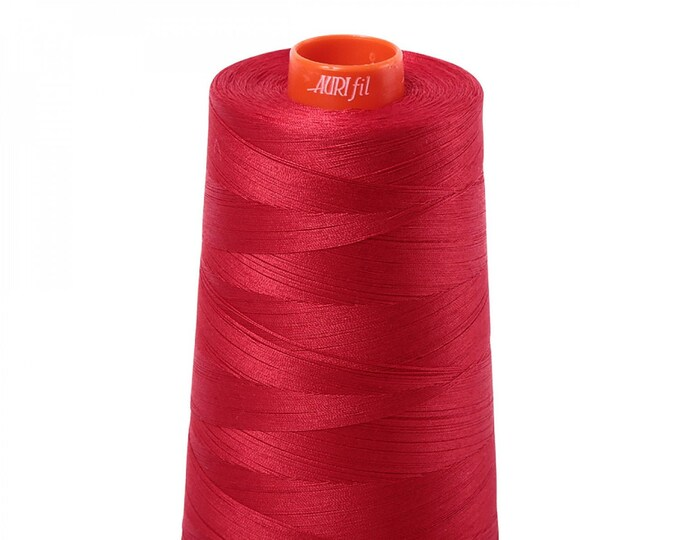 AURIFIL Cone MAKO 50 Wt 5900 Meters 6452 Yds Color 2250 Red Quilt Cotton Quilting Thread