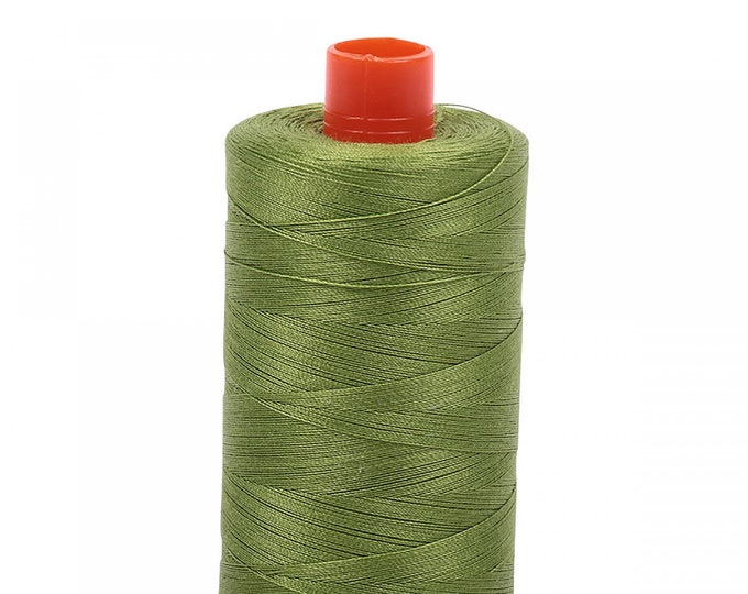 AURIFIL MAKO 50 Wt 1300m 1422y Color 2888 Fern Green Quilt Cotton Quilting Thread