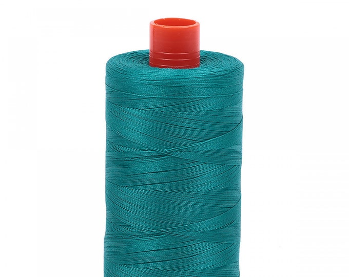 AURIFIL MAKO 50 Wt 1300m 1422y Color 4093 Jade Cotton Quilting Thread