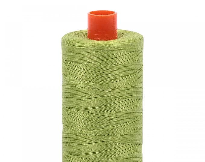 AURIFIL MAKO 50 Wt 1300m 1422y Color 1231 Spring Green Quilt Cotton Quilting Thread