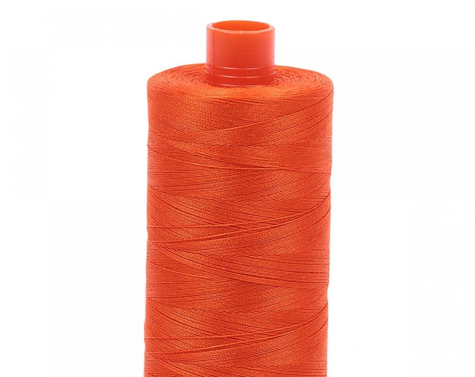 AURIFIL MAKO 50 Wt 1300m 1422y Color 1104 Neon Orange Orange Quilt Cotton Quilting Thread
