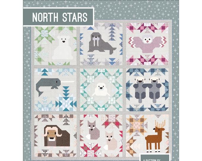 North Stars Elizabeth Hartman Narwhal Owl Seal Walrus Otter Polar Bear Quilt Modern Pattern