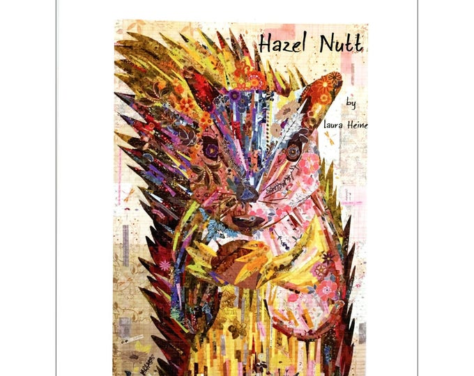 Fiberworks Laura Heine Collage Hazel Nutt Squirrel Quilt Pattern 40 x 58
