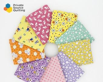 Marcus Brothers Aunt Grace Judie Rothermel 9 Fat Quarters FQ 30's Reproduction Fabric Bundle