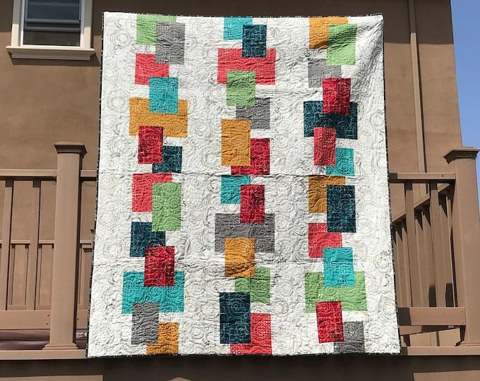 Suburban Skies Abbey Lane Urban Artifacts Leslie Tucker Jenison Fabric Quilt Kit 60 x 72 Free Ship
