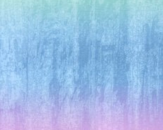 Kaufman Sand in my Shoes  McKenna Ryan Rainbow Purple Green Ombre Fabric PN041 BTY