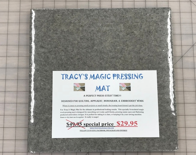 Tracy's Magic Pressing Mat Felted Wool Ironing Press Pad 12x12