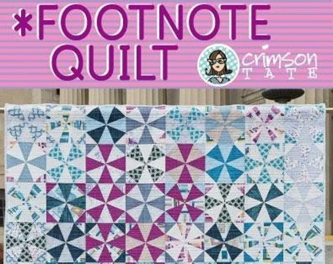 Crimson Tate Heather Givans *Footnote Quilt Pattern 2 Sizes Fat Quarter Half Yard Friendly