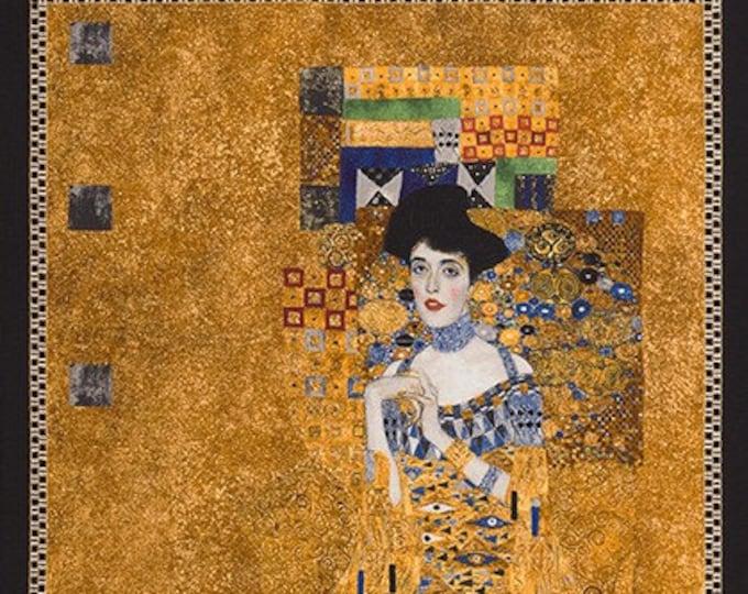 Robert Kaufman Gustav Klimt Woman in Gold Cotton Gilded Fabric Panel  (24 x 42)