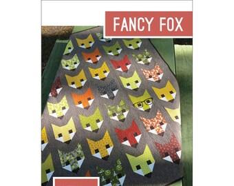 Fancy Fox Elizabeth Hartman Quilt Modern Pattern 3 Sizes