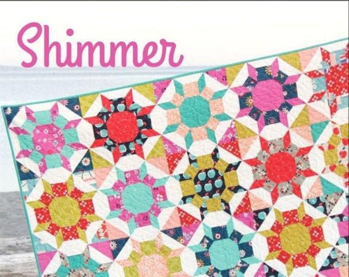Cluck Cluck Sew Shimmer Fat Quarter Friendly 5 Size Starry Modern Quilt Pattern