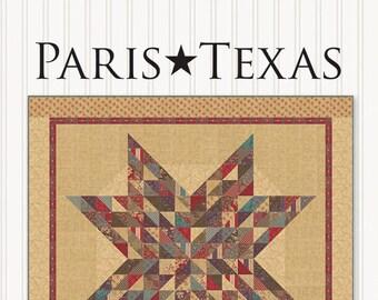 Miss Rosie's Paris Texas Layer Cake Friendly 72 x 72 Quilt Pattern 2 Sizes 1 Pattern