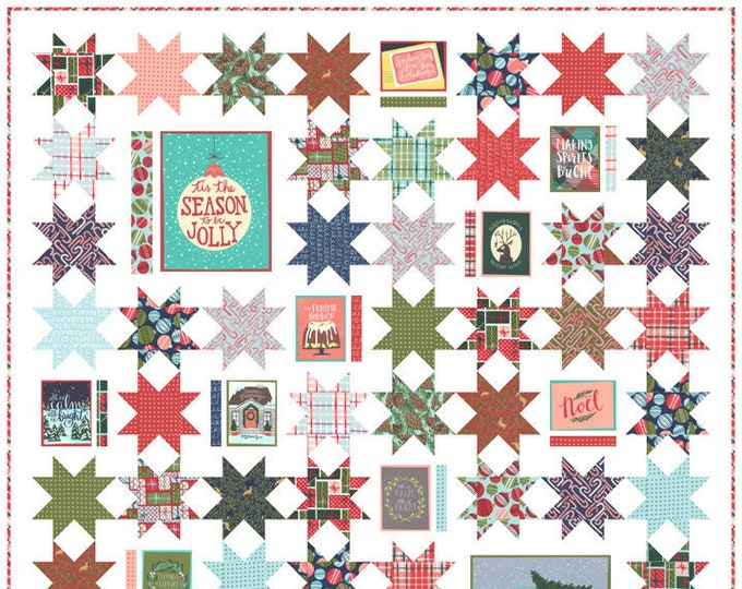 NEW Moda To Be Jolly One Canoe Two 1Canoe2 Holiday Christmas Fabric Complete Quilt KIT 68 x 76