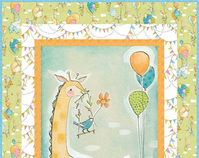 Blend Fabrics Wee Pals feat. Hello World Fabric Cori Dantini Baby Quilt Kit THREE Colors 30.5 x 44.5