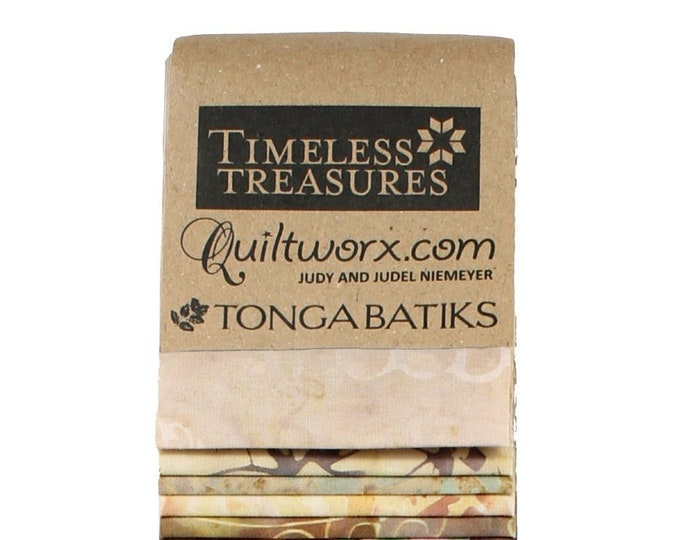 Timeless Treasures Tonga Batik Heirloom 48 2.5 in Fabric Strips Judel Judy Niemeyer Jelly Roll