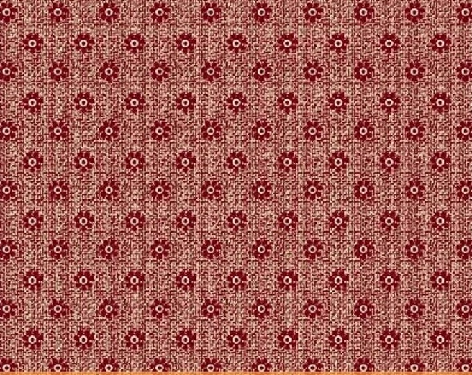 Windham Centennial Shirtings Red Cream Beige Floral Civil War Reproduction Patriotic 42486-2 Fabric BTY