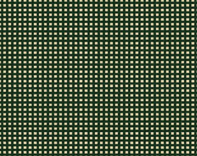 Windham Basics 27684 Green Cotton Fabric White Squares BTY