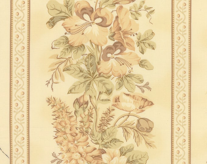 Moda Southern Exposure Fabric Biscuit Cream Tan Floral Border Edyta Sitar 42250-17 BTY