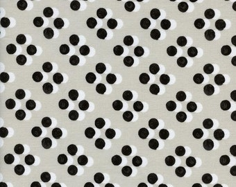 Cotton and Steel Black and White Sunday Dress Polka Dot Spot Fabric 5029-001 BTY