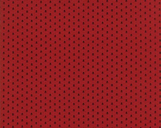 Moda Primitive Gatherings Needle Gatherings Red Russet Black Floral Civil War Patriotic Fabric 1232-14 BTY