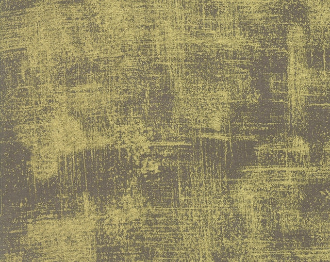 Moda Luxe Brushstrokes Metallic Gray Taupe Grey Mink Gold Mottled Background Fabric 33140-39M BTY