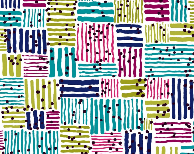 Windham Beyond the Reef Natalie Barnes Makers Home Multi Color Turquoise Magenta Fabric BTY 43148-2